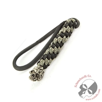 Schmuckatelli Pewter Mind Skull Striped Lanyard