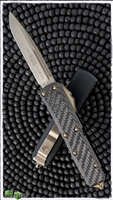 Microtech UTX-85 D/A OTF Auto 231-13CF Carbon Fiber Top Bronzed Blade & Hardware