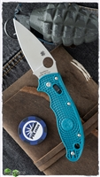 Spyderco Manix 2 Lightweight Ball Lock, Blue FRCP Scales, Satin CPM-SPY27 Blade