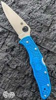 Spyderco Endura 4, Flat Ground VG-10, Blue FRN
