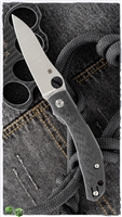 "Spyderco Phillips Kapara Compression Lock, Carbon Fiber Scales, 3.5"" Satin CPM-S30V"