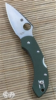 Spyderco Dragonfly Lockback, Foliage Green G-10, Satin VG-10