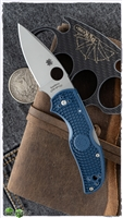 "Spyderco Native 5 Lightweight Lockback, Blue FRN,  3"" Satin SPY27"