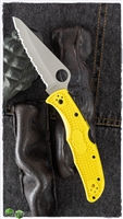 Spyderco Pacific Salt 2 Lockback Knife Yellow FRN