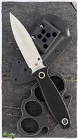 "Spyderco Nightstick Fixed Blade, Black G-10. 4.1"" Satin CPM-S30V"