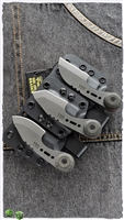 "TOPS Knives 3 Bros. Combo Fixed Blade Knife Set Canvas Micarta 2.2"" Tumbled"