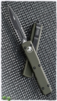 Microtech Ultratech D/E 122-2OD Black Serrated Blade Green Handle