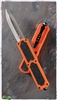 Titan D/A OTF Automatic Knife Orange Silver Blade