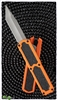 Titan D/A OTF Automatic Knife Orange Silver Tanto Blade
