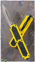 Titan D/A OTF Automatic Knife Yellow Handle Silver Blade