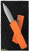 Taiwan Lightning Orange Handle Silver Double Edge Partial Serrated