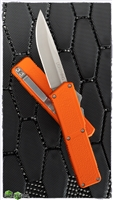 Taiwan Lightning Orange Handle Silver Single Edge Blade