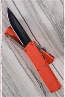 Taiwan Lightning Orange Handle Solid Black Blade
