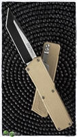 Taiwan Lightning Tan Handle Two Tone Tanto Blade