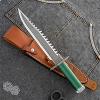 Rambo: First Blood Survival Knife With Leather Sheath