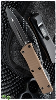 Microtech Troodon D/E 138-1GTTA Black Blade Tan G10 Top