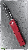 Microtech Combat Troodon D/E 142-2RD Partial Serrated Black Blade Red Handle