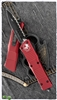 Microtech Combat Troodon D/E 142-3RD Black FS Blade Red Handle