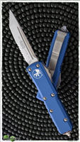 Microtech UTX-85 T/E 233-5BL Satin Serrated Blue Handle