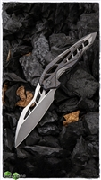 WE Knife Co. Isham Arrakis Knife Flamed/ Gray Titanium, Stonewashed M390 Steel Blade