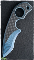 Warren Thomas X Strider Knives SLCC Custom Blue Carbon Fiber #1