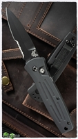 Benchmade 3551SBK Mini Stimulus Serrated Black Blade