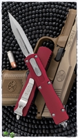 Microtech Dirac 225-10RD Stonewash Blade + Red Handle