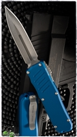 Guardian Tactical RECON-035 D/E OTF Stonewash Blade & Blue Handle