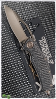 Marfione Custom Matrix-R Bronze Stonewash Carbon Fiber / DLC Titanium Handle With Flamed Accents & Bronzed HW SN003