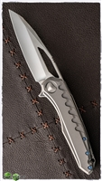 Marfione Custom Sigil Mirror Blade Ti Handle Damascus Backplate