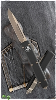 Microtech Ultratech S/E 121-13AP Apocalyptic Bronze Blade Black Handle