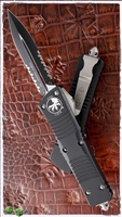Microtech Combat Troodon D/E 142-2 Serrated Black Blade