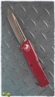 Microtech Combat Troodon T/E 144-13RD Bronzed Blade & HW Red Handle