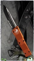 Microtech Combat Troodon T/E 144-2OR Black Blade Orange Handle