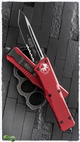 Microtech Combat Troodon T/E 144-2RD Black Blade Red Handle