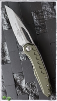 Microtech Sigil MK6 169-10OD Stonwash Blade OD Green Handle