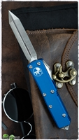Microtech UTX-85 Spartan 230-4BL Blue Handle Satin Blade