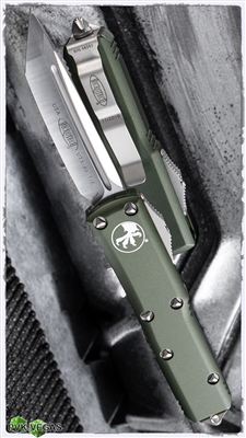 Microtech UTX-85 T/E 233-4OD Satin Blade OD Green Handle