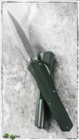 Microtech Cypher D/E 242S-10OD Smooth OD Green Handle SW Blade