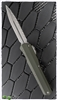 Microtech Cypher D/E 242S-12OD Smooth OD Green Handle SW Full Serrated