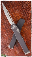 Microtech HALO 6 S/E 251-10 Stonewash Blade Black Handle