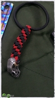 MW Iron Skull Black/Red Lanyard