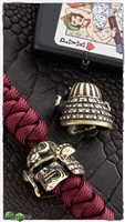 MW Antiqued Brass Oni Samurai Bead