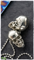 MW Large White Brass Skull Bead