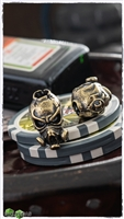 MW Battle Worn Chem War Skull Brass Bead
