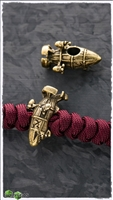 MW Brass Red Alert Airship Lanyard Bead