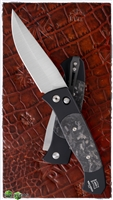 Protech Brend #3 Auto 1304M Satin Blade Marble Carbon Inlays