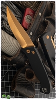 Protech Brend #3 Auto 1321-CR Copper Rose Blade Black Handle