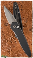 Protech Half Breed Auto 3605 Black Handle Stonewash BLade