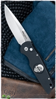 Protech Tactical Response TR-3.71 L.E. Knife Sterling Silver Skull MOP Push Button.